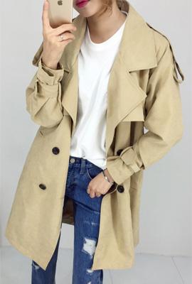 박남매)디얼 큐브라 트렌치코트(4color)