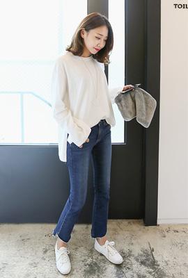 마롱 루즈 긴팔티셔츠 (3color)